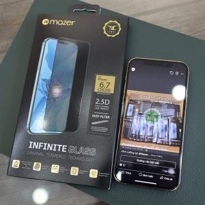 """Dán cường lực iPhone 12 Pro 6.1"""" - Mazer Full viền đen"""